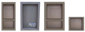 Preformed recess, Preformed Niches, Ready Made shower Pan Preformed Tile Ready COMPONENTS