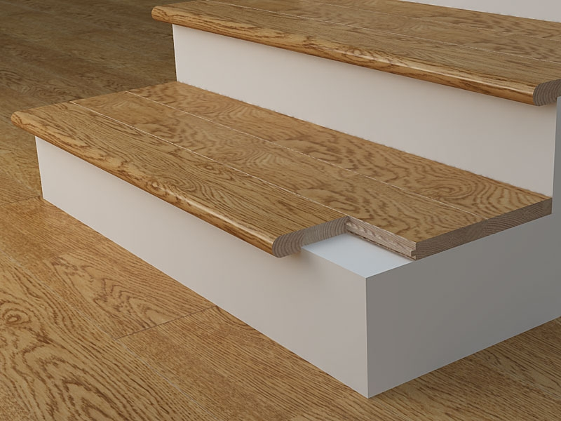Stair Nosing What Is Its Purpose Blog Floorsave   Installing Hardwood On Stairs   Tile Riser White Landing Tread   Combined Wood   Brazilian Cherry Hardwood Stair   Cream Wood   Bottom Stair