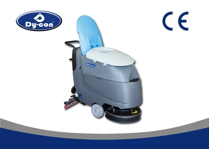 iron handle push commercial ceramic tile floor cleaning machine brush assisted driving