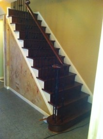 Word underway on a custom staircase by Floors Direct North