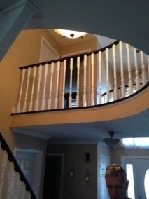 A custom staircase installed by Floors Direct North