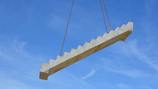 professional installation of precast concrete stairs