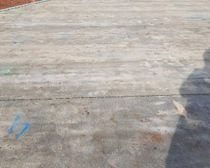 Self builder concrete floor installation