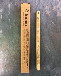 Bamboo Toothbrush – Artwork by Julio Diaz – back view and package