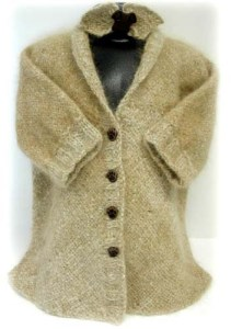 """Child's jacket woven on the 14"""" HazelRose loom using just 230 yards of Golden Retriever Keepsake Yarn for the entire project."""