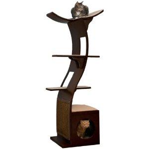 The Refined Feline Lotus Cat Tower in Espresso
