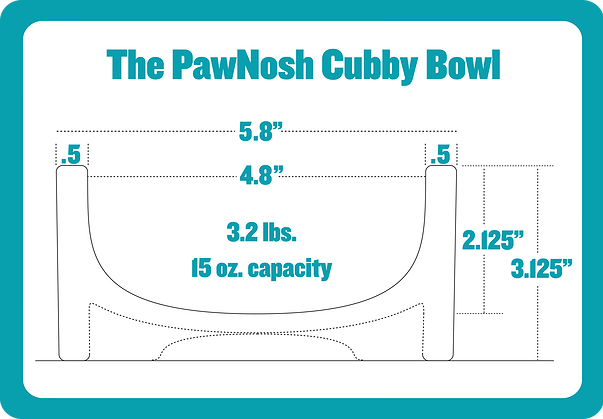 PawNosh Cubby Glass Pet Bowl