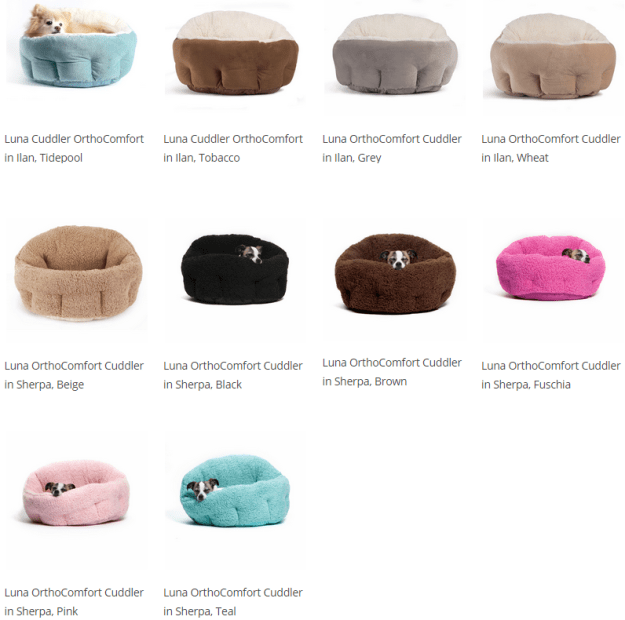 Urban Paw Luna Orthocomfort Cuddler Cat Bed Available Fabrics and Colors