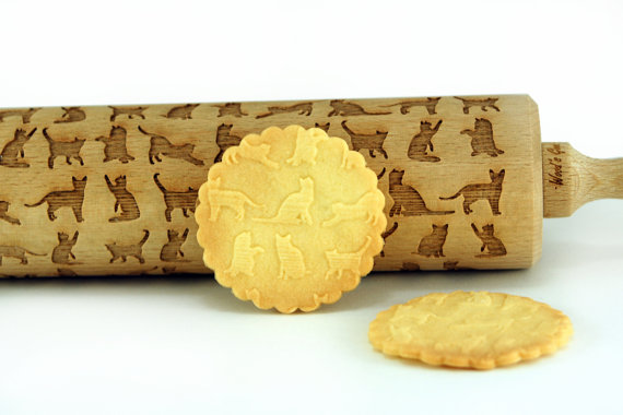 CATS – Embossing wooden rolling pin by MONOARTO