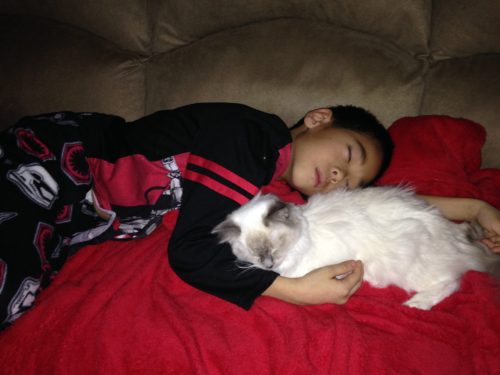 Sophie and Michael sleeping