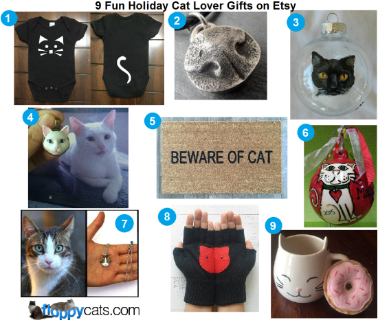 Fun Holiday Cat Lover Gifts on Etsy