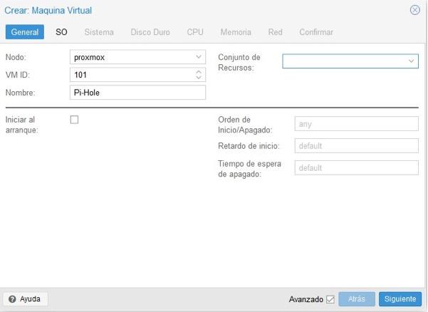Crear máquina virtual Proxmox 2