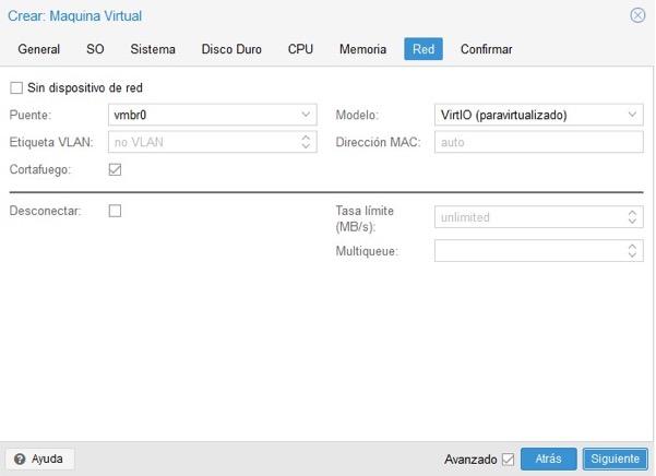 Crear máquina virtual Proxmox 8