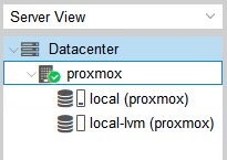 server view Proxmox