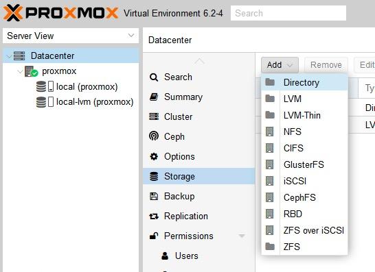 almacenamiento Proxmox 1