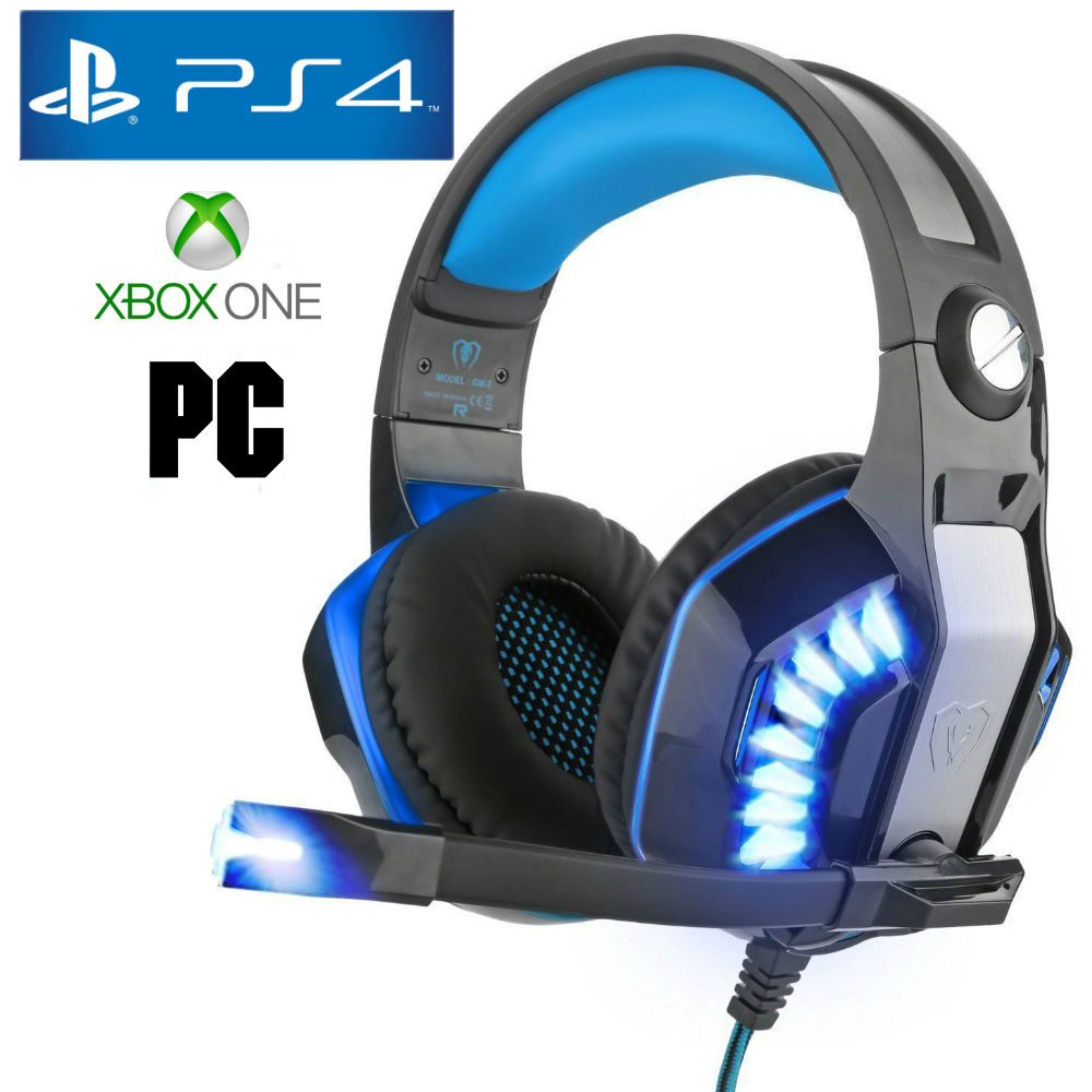 pro gamer ps4 headset for playstation 4 xbox one pc. Black Bedroom Furniture Sets. Home Design Ideas