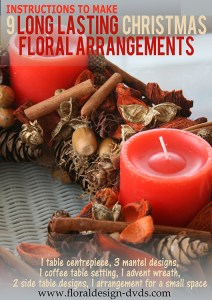 Make your own Christmas Floral Decorations now on DVD