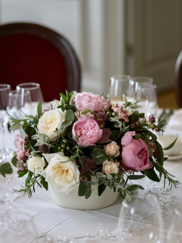 Event flowers with Peonies at the Admiral's House in Greenwich