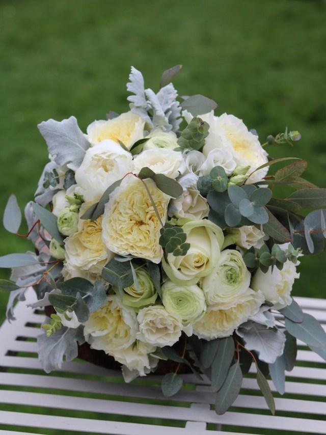 White flowers bridal bouquet