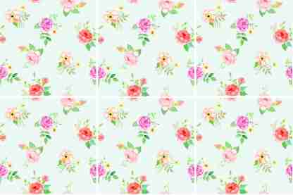 Pastel Roses Ceramic Wall Tile Pattern Example