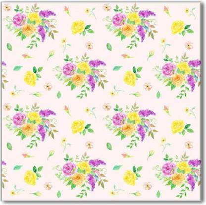 Flower Spray Pattern Ceramic Wall Tile