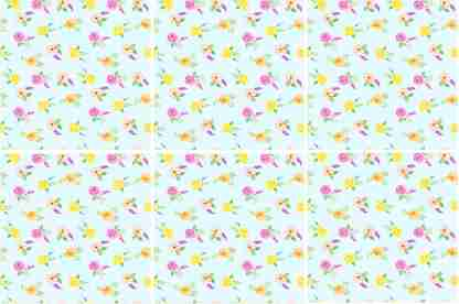 Yellow and Pink Roses Ceramic Wall Tile Pattern Example