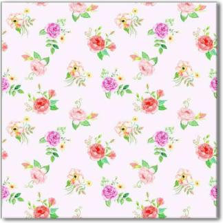 Shabby Chic Roses pattern ceramic wall tile