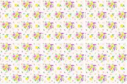 Flower Spray Ceramic Wall Tile Pattern Example