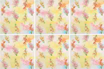 Pink Phlox Floral Ceramic Wall Tile Pattern Example