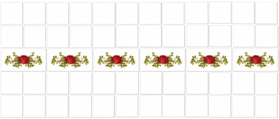 Rose Tiles Ideas - Red Rose Border Tiles Pattern Example