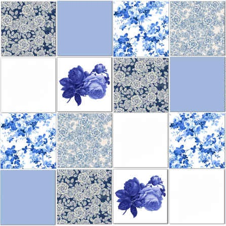 Blue Splashback Tiles Pattern Example
