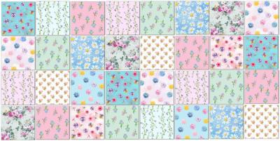 Maximalist Tiles Ideas - Patchwork Tile Pattern in Colourful Floral Patterns