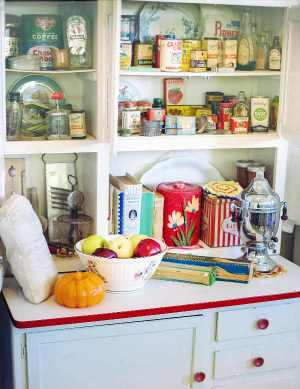 Vintage Tiles Blog - Image of Vintage Kitchen Dresser