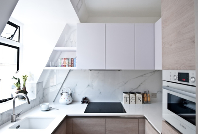 Kitchen Splashback Tiles Ideas - marble-like porcelain tiles
