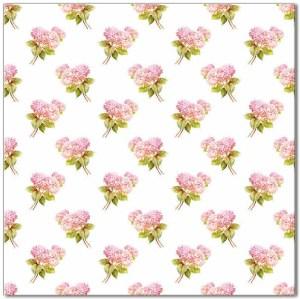 Pink Tiles - Hydrangea Flower Pattern Ceramic Wall Tile