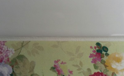 Upcycling a tiled table - tidy grout line example