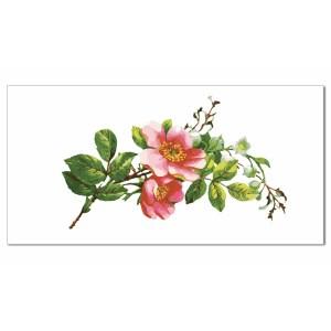 Pink Tiles - Pink Blossom Flowers Border Tile