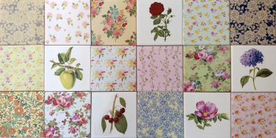 Decorative tiles - a selection of decorative ceramic wall tiles with floral designs