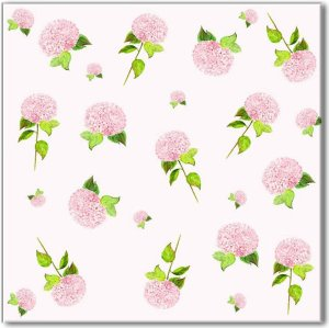 Ditsy Pink Hydrangea Patterned Wall Tile
