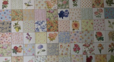 Patchwork Tiles - Floral Wall Tiles Patchwork Pattern