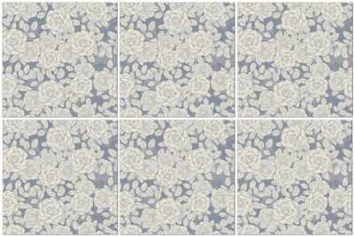 Grey and white roses seamless pattern decorative tiles example