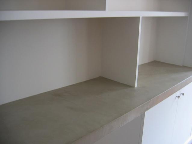 plateau bureau en beton cire sofia