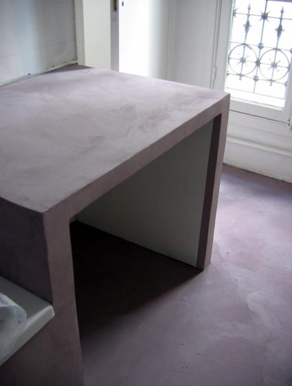 sol et plan vasque b ton cir bagatelle flore molinaro. Black Bedroom Furniture Sets. Home Design Ideas