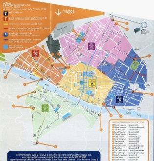 Florence Driving Map  the ZTL explained   Florence On Line florence driving map jpg
