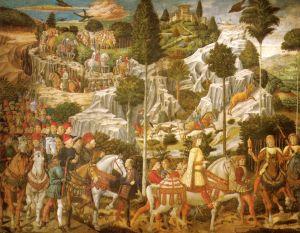 Benozzo Gozzoli, Cappella dei magi, corteo con Lorenzo, Piero e giovanni de medici