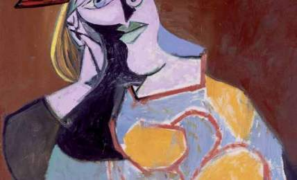 Pablo Picasso (Malaga 1881-Mougins 1973), Seated Woman Resting on Elbows 8 January 1939, oil on canvas, 92 x 73 cm. Collection from Museo Reina Sofia, Madrid