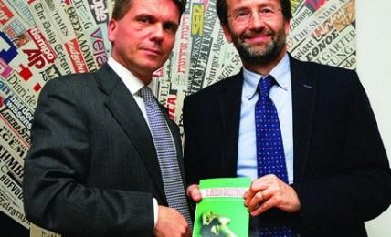 Maarten van Alderen with Dario Franceschini, Minister of Culture and Tourism