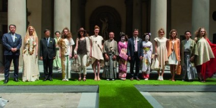 The magnificent Genten fashion show in the courtyard of the Anthropology Museum