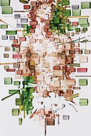 5) DECODIFICAZIONE 180x120 oil on canvas