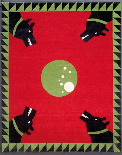 black out 2013 tapetto anodato a mano con tecnica tibetana 2cm 50x 200